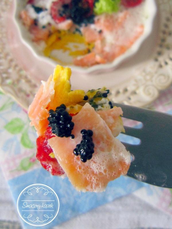 Egg tart with salmon... such a lovely starter!