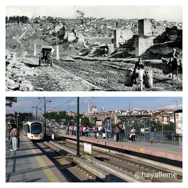 82 yıl önce ve sonra #Edirnekapı 'ya bakış... #hayallemek #istanbul #1930s…