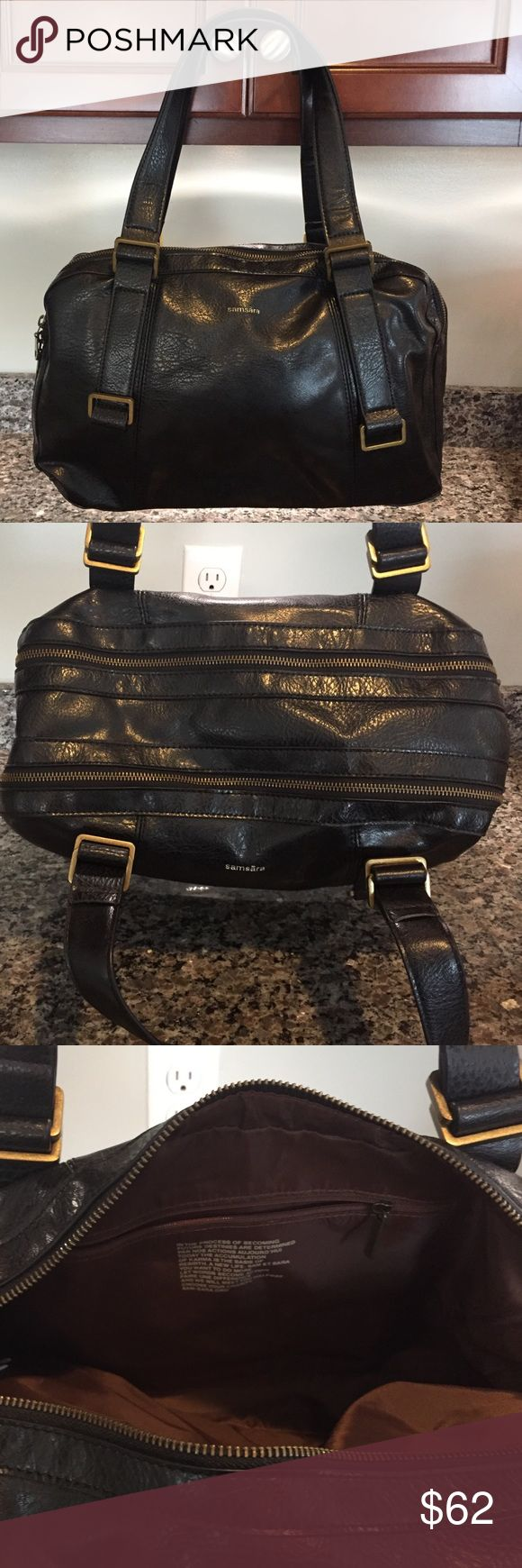 Matt and Nat Samsara Bag Beautiful bag. Could be used as a brief case or lovely work bag. Approximate dimensions: 16in X 12in matt and nat Bags
