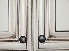white cabinets with gray glaze - Google Search