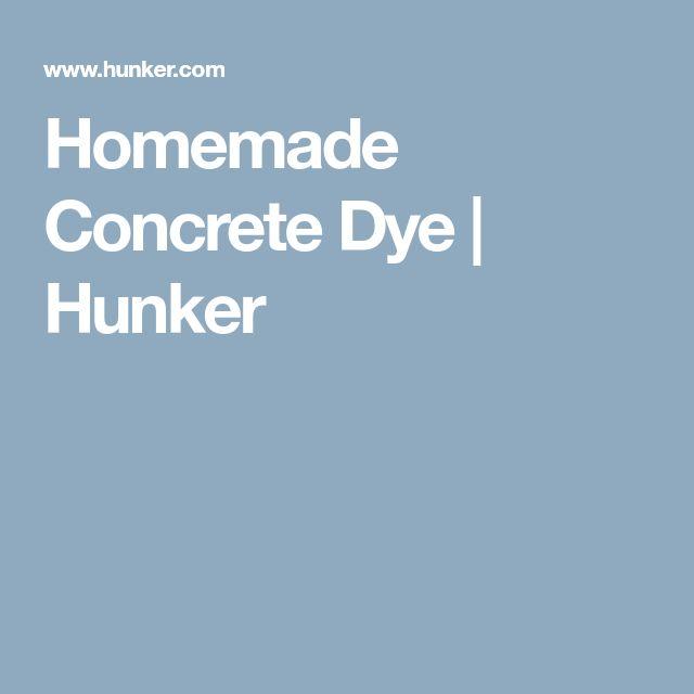 Homemade Concrete Dye | Hunker