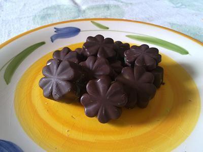 Cioccolatini con cuore di menta