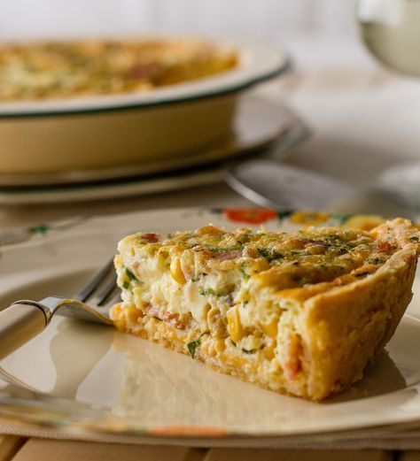 Corn & Bacon Quiche recipe. A well-made quiche is always in fashion. Enjoyed hot or cold, it's ideal for lunch, brunch or even a light dinner.