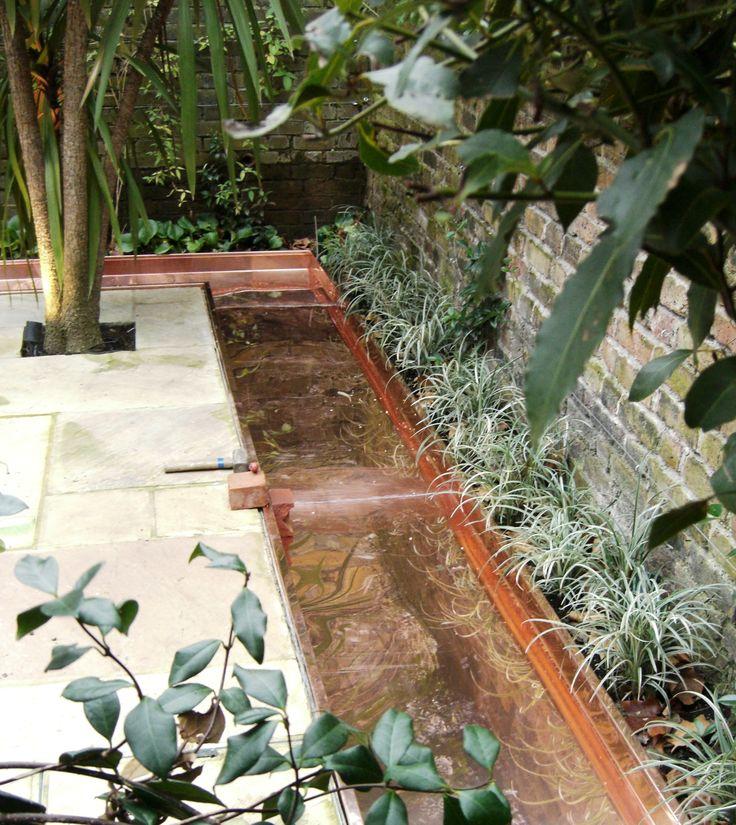 Courtyard Garden with Copper Rill Water Feature - Simon Scott ...