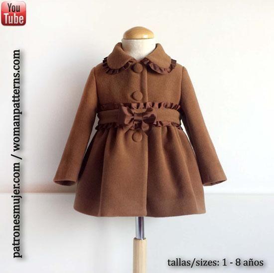 Tutoriales de costura: Cómo hacer un abrigo de niña (patrones incluidos)