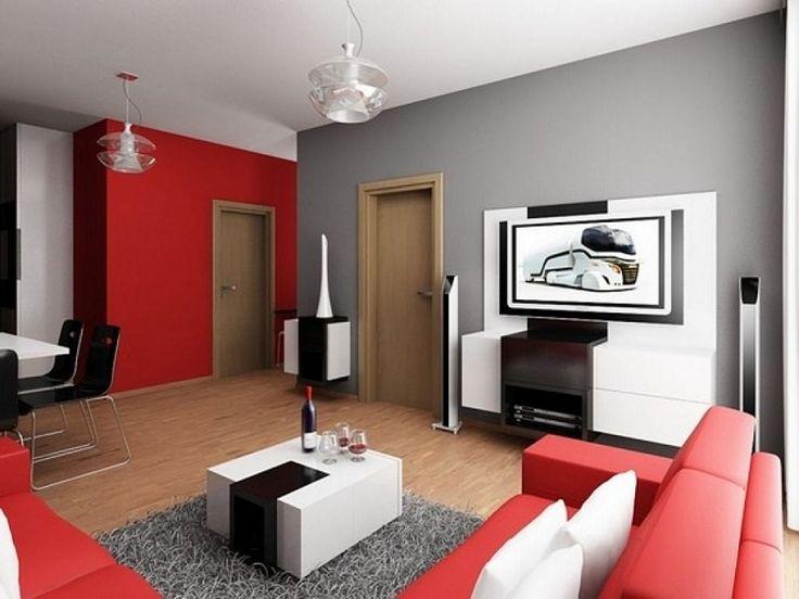 design wohnzimmer schwarz grau rot ber 1000 ideen zu wohnzimmer rot auf pinterest - Wohnzimmerwand Ideen Grau Rot