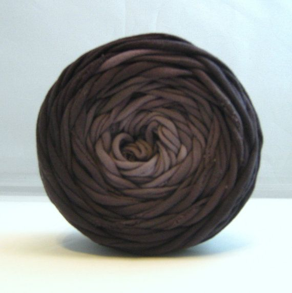 Hand Dyed T shirt Yarn Black Ombre 40 yards by Chennapenna on Etsy, $6.00