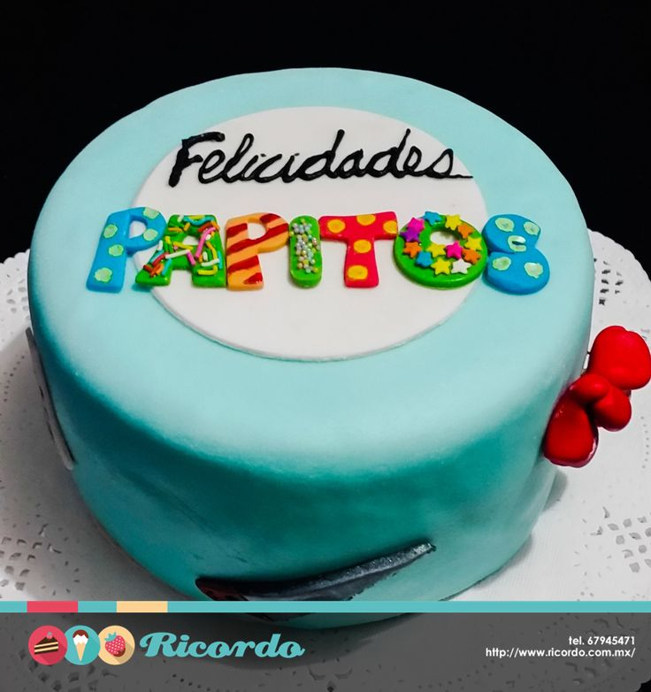 #MiercolesDeGaleria  Un detalle delicioso para festejar a todos los papitos.  #catalogoRICORDO  #pastel #fondant #fondantcake #papas #DiaDelPadre #FathersDay #fathersdaygifts #Father