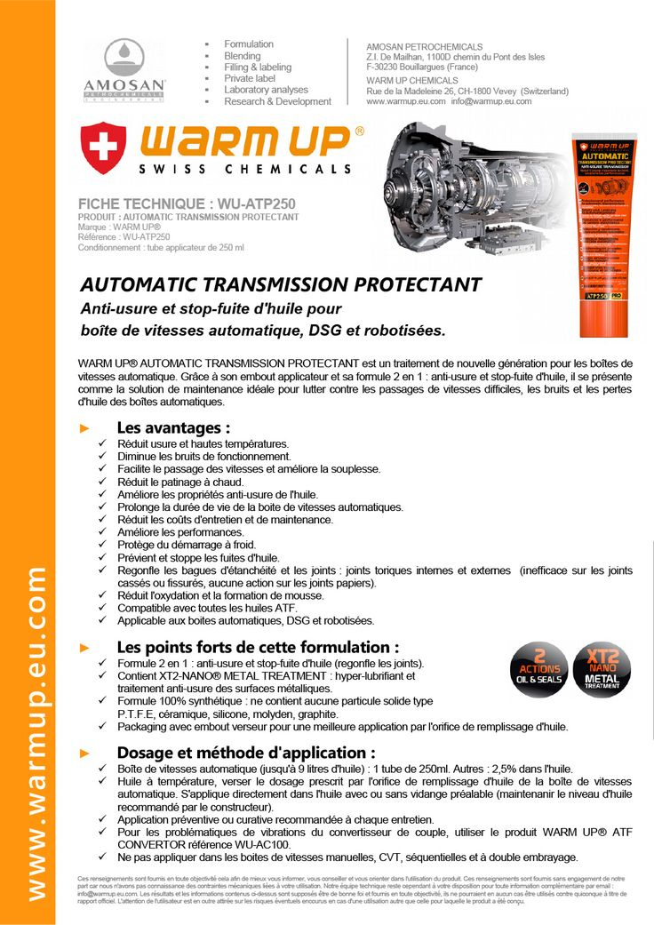 WARM UP - AUTOMATIC TRANSMISSION PROTECTANT