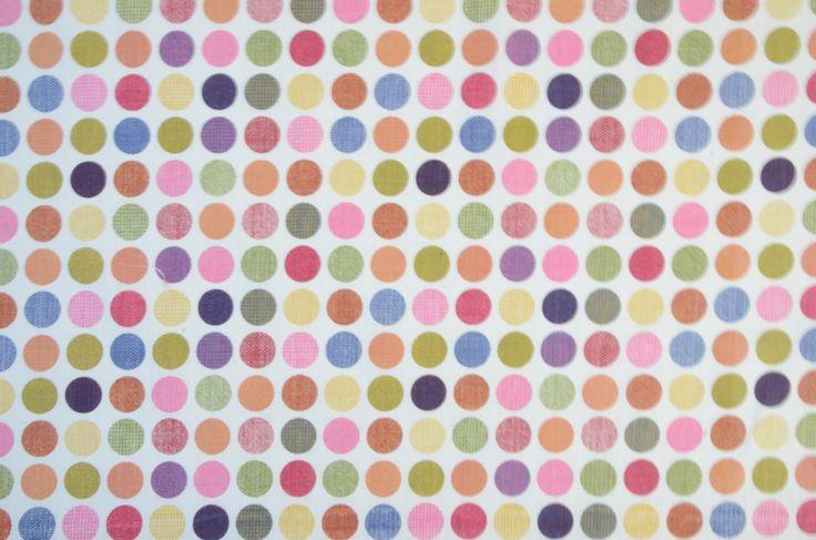 Multi Pink Polka Dot Fabric #NewArrivals #ConstantiaFabric