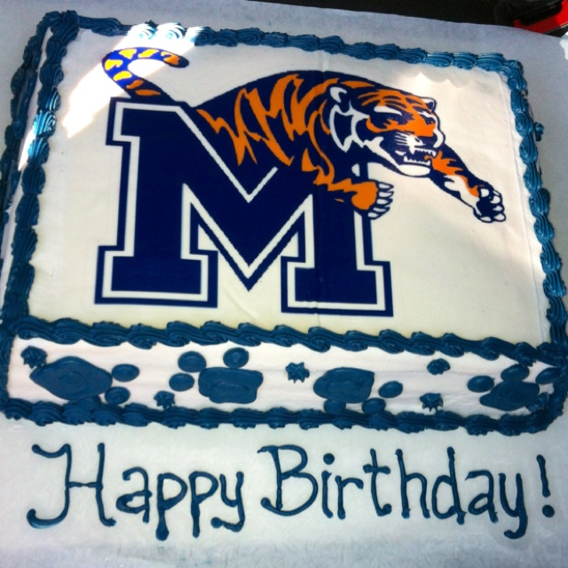 Tiger Cake, Memphis Tigers And Memphis On Pinterest