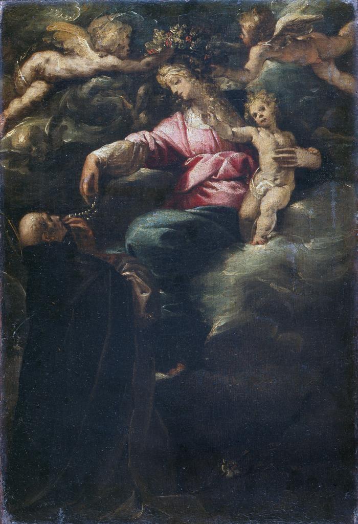 Madonna of the Rosary with the Child, Saint Dominic and two Angels / Madonna del Rosario con il Bambino, San Domenico e due angioletti // before 1617 // Morazzone (Pier Francesco Mazzucchelli) // Pinacoteca di Brera
