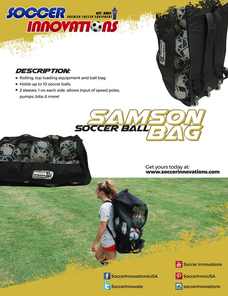Top loading with zipper soccer equipment and ball bag with wheels and backpack straps for easy transportation in any situation.