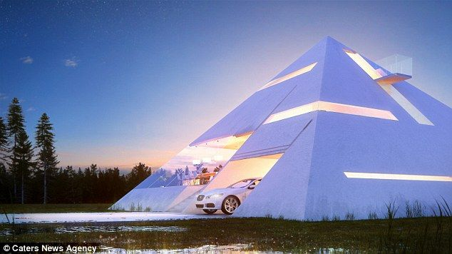 Covering all angles: The design comes with a built-in garage, fold out balcony and even a recording studio
