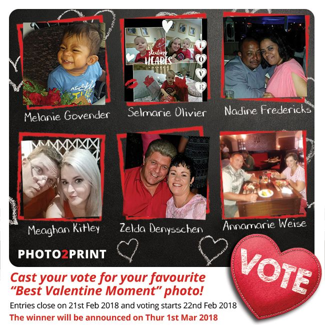 Vote now for our finalists!!! https://contest.fbapp.io/best-valentine-moment-voting The winner of the R750 gift voucher will be announced on Thur 1st Mar 2018. #choosethebest #votenow