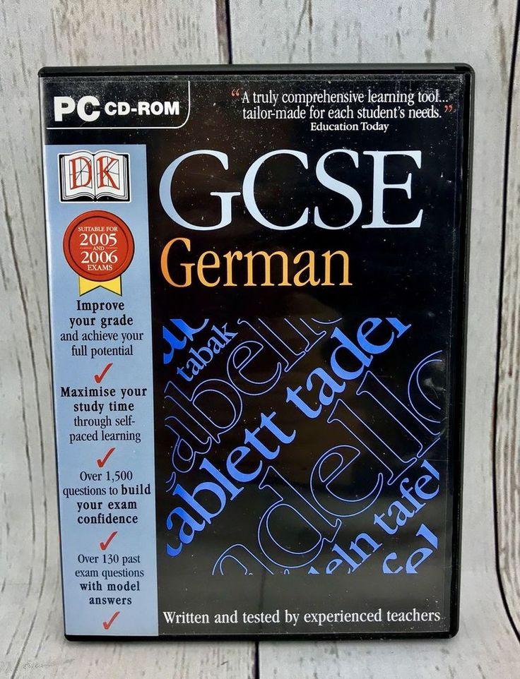 DK Books GCSE German PC CD ROM Learn German Fast Made By German Teachers