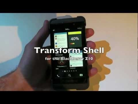 First look at the Transform Shell for the BlackBerry Z10