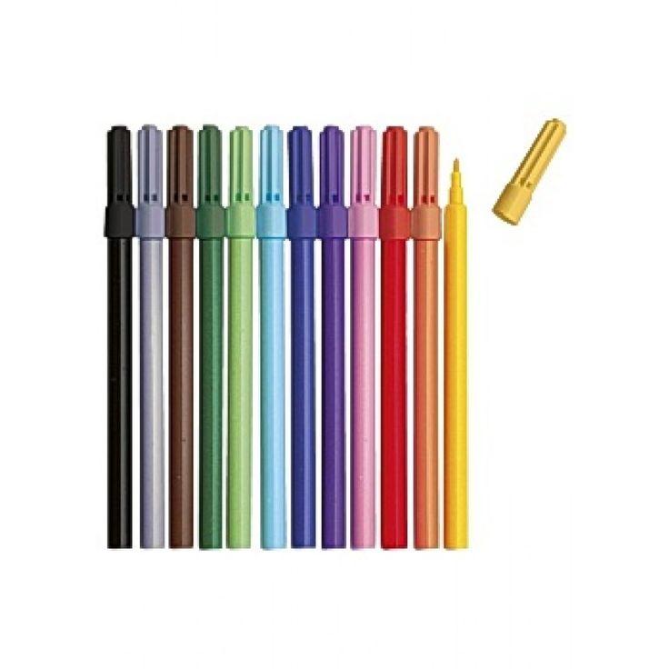 Fiberpenna Sense 12 färger