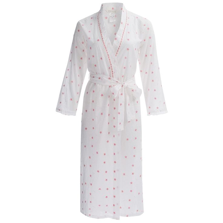 KayAnna Embroidered Wrap Robe - Cotton, Long Sleeve (For Women) - Save 46%