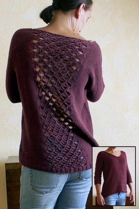 dc73cae7399d Free knitting pattern for Beetroot Salad Sweater Loose-fit v-neck ...