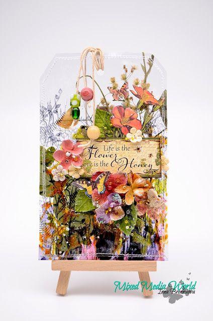 Inna Bronnikova: Прозрачный тег с сухоцветами для MMW. MMW#26 Anything Mix Media Goes' / Use Natural Materials