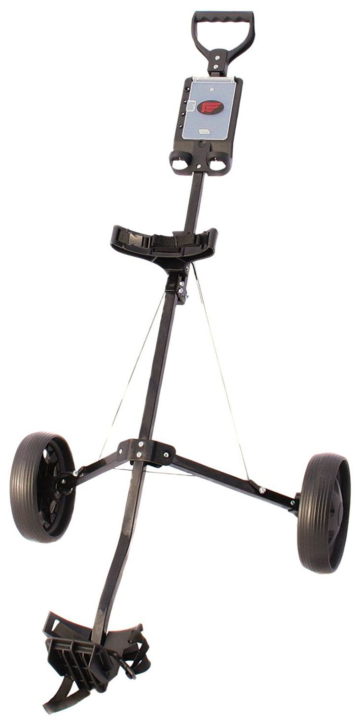 This lightweight and great value 2 wheel golf trolley pull cart by Founders Club is capable of fitting most sized golf bags!