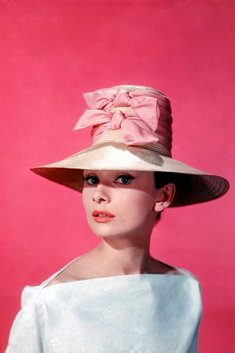 Audrey Hepburn In Hats (And On Your Coffee Table) #refinery29  http://www.refinery29.com/2013/07/49695/audrey-hepburn-hats-book#slide8  Photo: Courtesy of The Kobal Collection / Reel Art Press