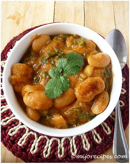Mauritian Lima Beans Curry. our kid loves lima beans!