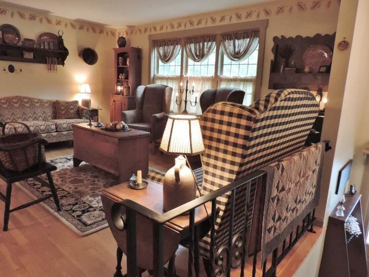 Primitive country living room for Primitive country living room ideas