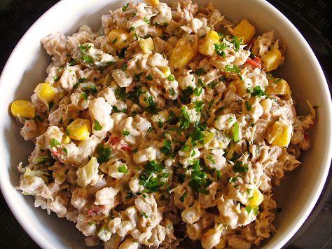 Reis - Mais - Thunfisch - Salat, ein leckeres Rezept aus der Kategorie Krustentier & Fisch. Bewertungen: 16. Durchschnitt: Ø 3,9.