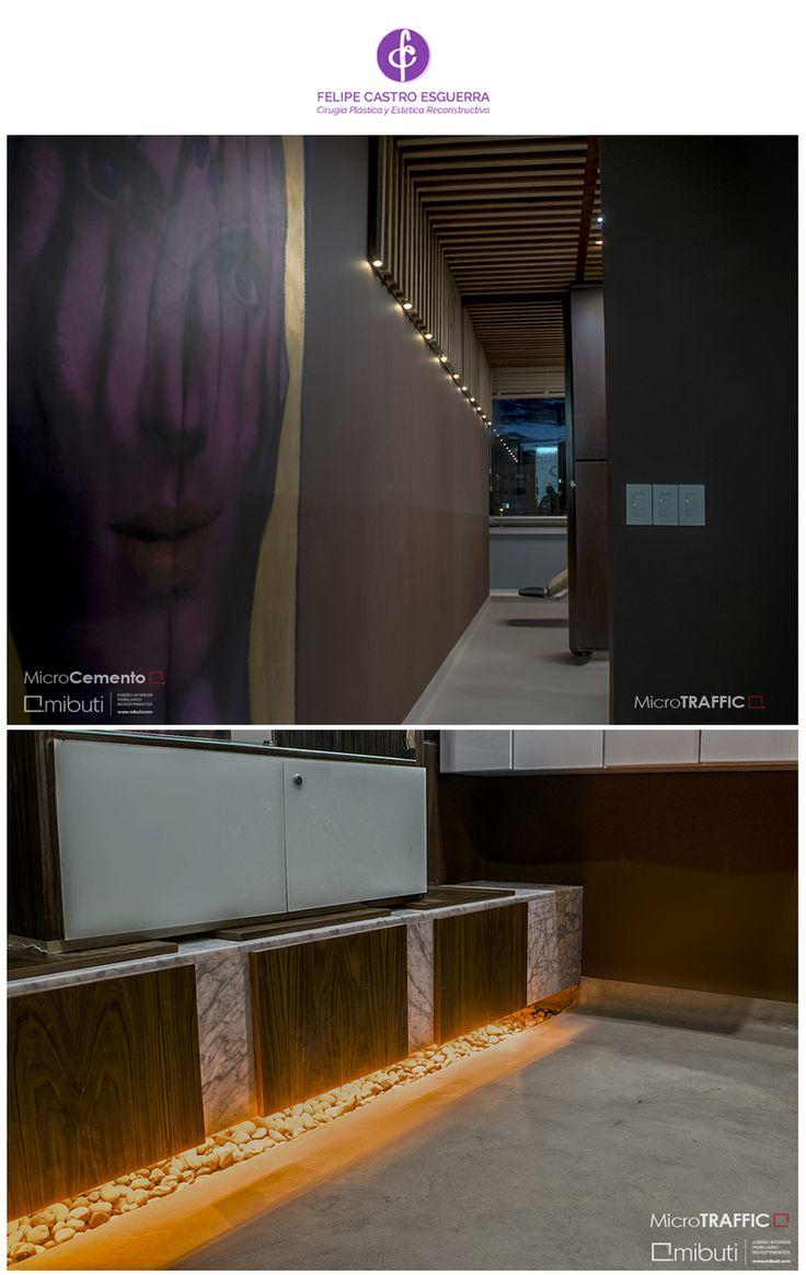 ¡Espacios dinámicos, modernos y confortables! Proyecto en Consultorio @drfelipecastroe Pisos en #MicroCemento #Traffic color plata, #paredes en MicroCemento Fino color gris 80%  #revestimientos #interiores #materiales #archiproducts #interiorismo #pisos #Mibuti