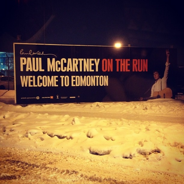 @jilliancue  Welcome to Edmonton. #paulmccartney #yeg