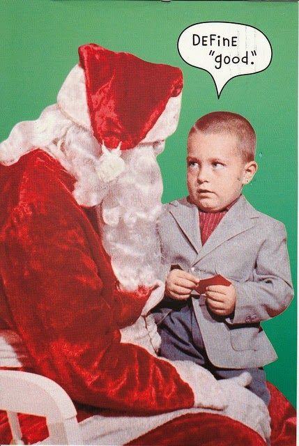 Funny Christmas Santa Define Good Boy