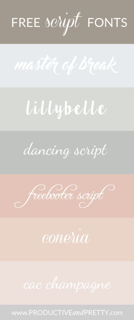 Free Script Fonts (part 1)