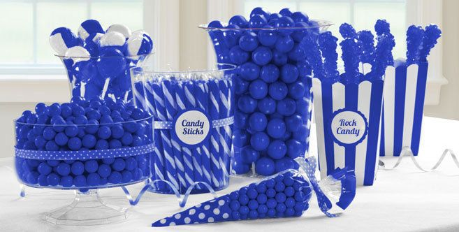Royal Blue Candy Buffet - Blue Candy Table Ideas - Party City