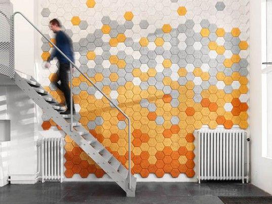 Die besten 25+ Hexagon wall tiles Ideen auf Pinterest - deko ideen hexagon wabenmuster modern