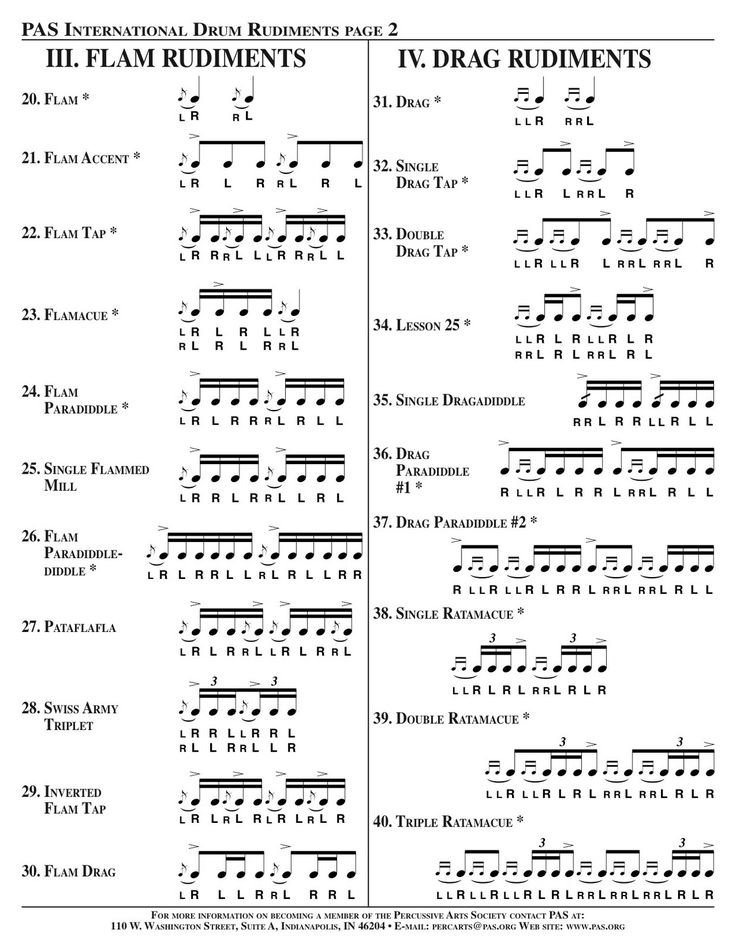 drum rudiments drum set | to practice each rudiment is to grab a pair of drum sticks and a drum ...