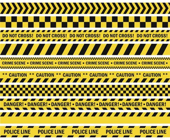 Caution Tape Do Not Cross Police Crime Danger Construction Lines Silhouette Svg Graphics Ill Police Crime Caution Tape Police