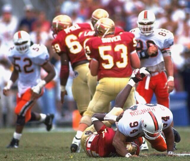 "Dwayne ""The Rock"" Johnson  Ray Lewis. The U  Miami Football."