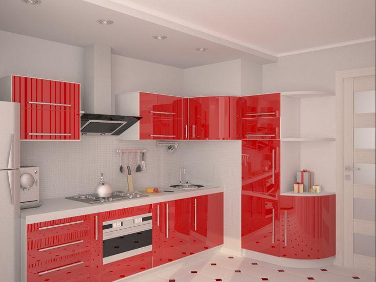 Особенности оформления бело-красной кухни:выбор доминирующего цвета, варианты стилевых решений, а также варианты бело-красных интерьеров кухни.