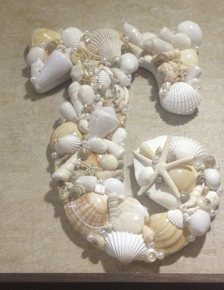 56 best monogram made out seashells images on pinterest
