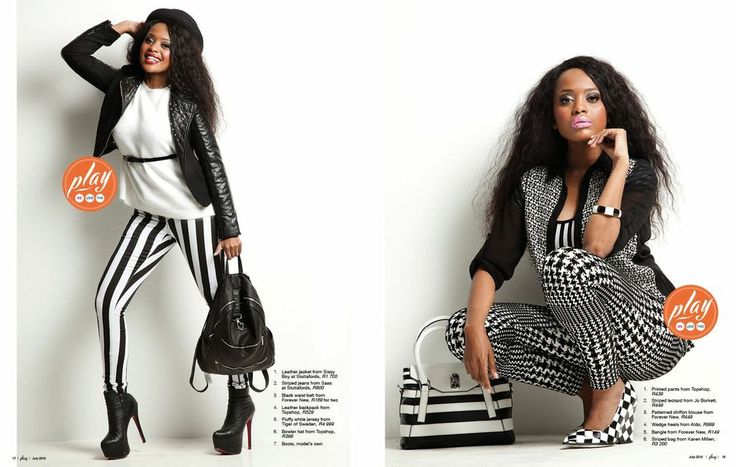 MONOCHROME with Lerato Kganyago Leather and Print look