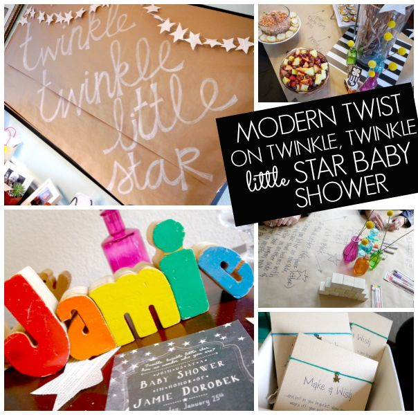 Lots of creative ideas for a twinkle, twinkle little star baby shower for a boy or girl!