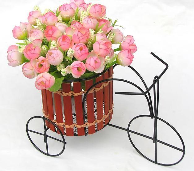Дешевое бамбук ротанг плетеная велосипедные цветы Ваза цветочный горшок украшения дома, Купить Качество Вазы непосредственно из китайских фирмах-поставщиках:  Размер: 23x10x12cm   Вес : 0,15 кг   Включает в себя: 4 шт   Цветок не входит