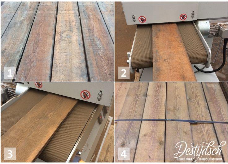 Oud grenen en vuren dakbeschot wordt bij Destijdsch geborsteld. Het zachte hout wordt van de plank geborsteld waardoor er een fraai oppervlak overblijft. Deze planken kunnen op vele manieren hergebruikt worden! Denk hierbij aan vloer, plafond, wand en zelfs meubelen.  Bestel hier gemakkelijk online, binnen 3 werkdagen thuis geleverd!: http://www.destijdsch.nl/shop/Vloeren/hout