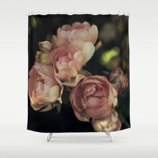 Roses Shower Curtain by ARTbyJWP #showercurtain #bathroom #homedecor #roses #floral  ---    Customize your bathroom decor with unique shower curtains designed by artists around the world. Made from 100% polyester our designer shower curtains are printed in the USA and feature a 12 button-hole top for simple hanging. The easy care material allows for machine wash and dry maintenance. Curtain rod, shower curtain liner and hooks not included. Dimensions are 71in. by 74in.