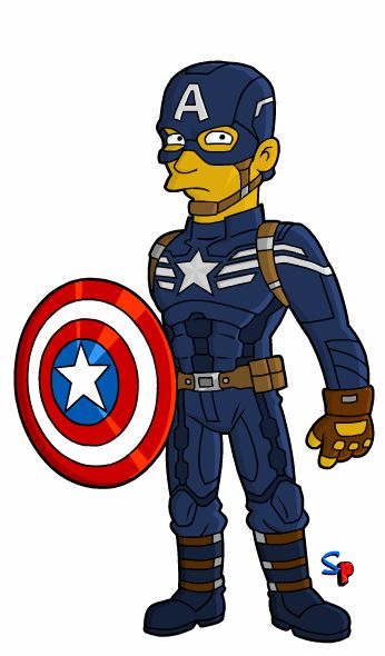 Springfield Punx: Captain America (Winter Soldier Version)