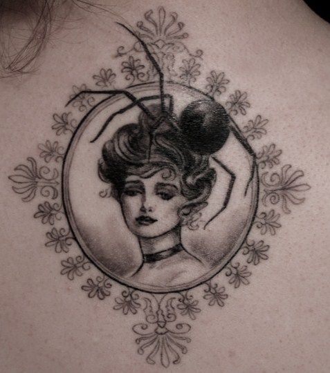 This tattoo is creepy and beautiful