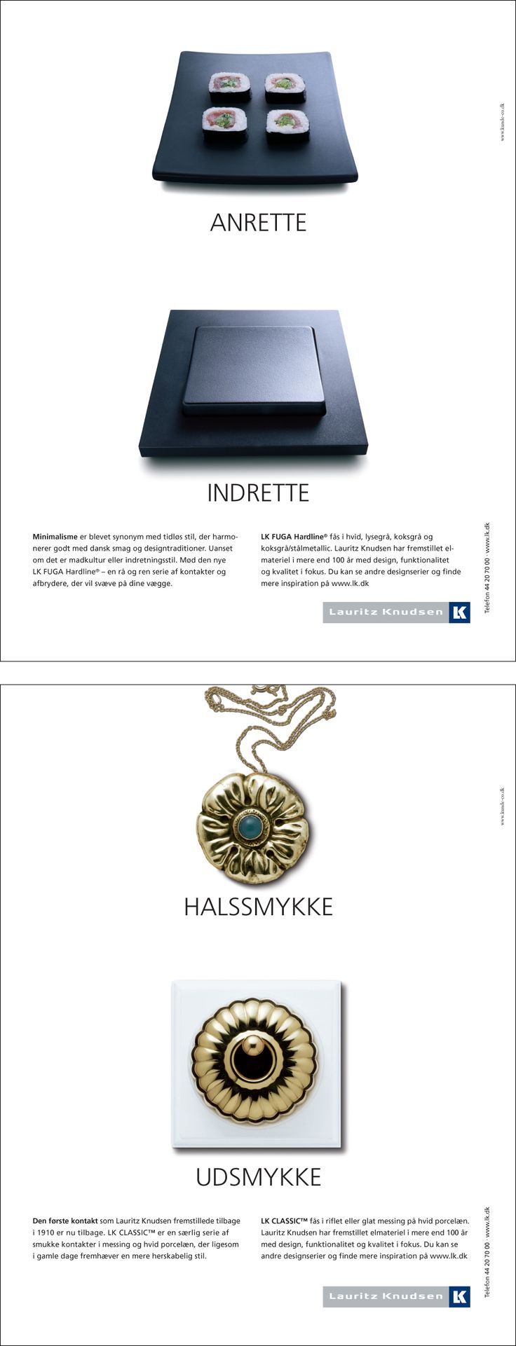 Lauritz Knudsen - annoncer #otteogtyvetres #kundeco #artdirection #print #advertising