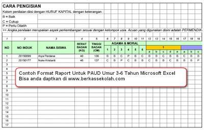 Contoh Format Raport Microsoft Excel PAUD   Contoh Format Raport Microsoft Excel PAUD - Download Format Raport PAUD - Gratis Format Raport PAUD Otomatis - Contoh Format Raport Paud Otomatis - Format Raport PAUD Microsoft Excel.  Sesuai Juknis BOS 2015-2016 [Google Drive Preview]  Demikianlah uraian singkat mengenai Contoh Format Raport Microsoft Excel PAUD. Semoga bisa mendapatkan gambaran atau pencerahan dalam membuat raport untuk dipakai di Paud masing-masing.  File disimpan di google…